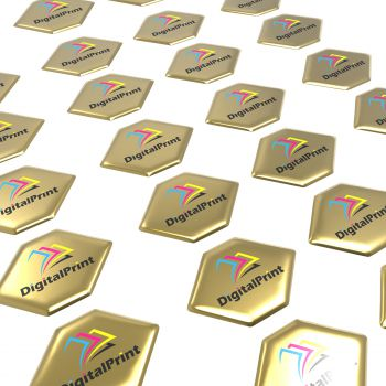 Doming Sticker, flat surfaces, contour, gold gloss