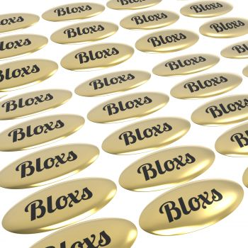 Doming Sticker, flat surfaces, oval, gold gloss