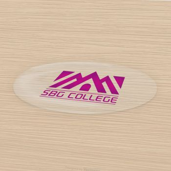 Doming Sticker, flat surfaces, oval, transparent